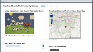 Screen shot of the Bristol Wireless Community Gateway for Knowle West