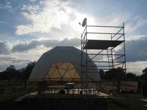 The geodesic dome at TCS Extremadura